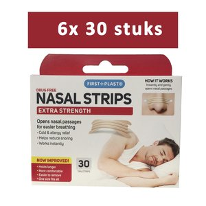 First Plast neusstrips huidskleurig 30 stuks half jaarpakket 6 verpakkingen