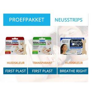 Proefpakket neusstrips tegen snurken