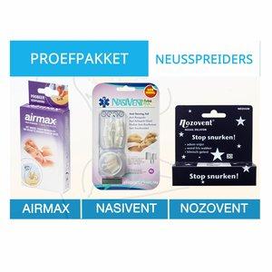 Proefpakket neusspreider tegen snurken